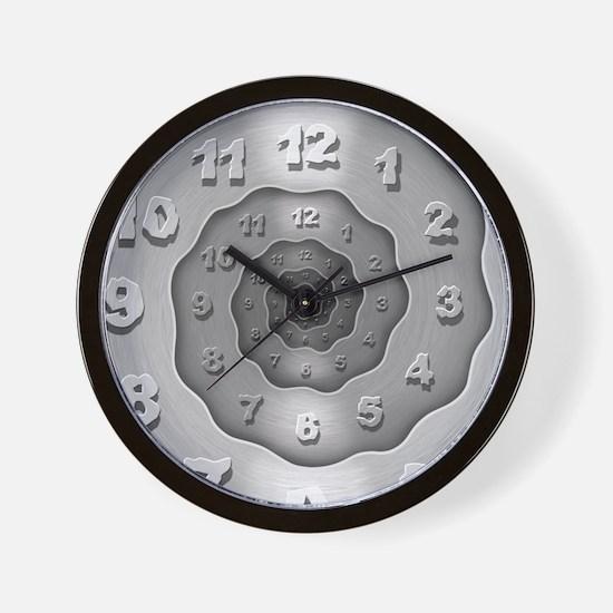 Wavy Metal Spiral Wall Clock