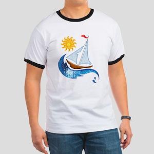 Sailboat Ocean and Sun T-Shirt