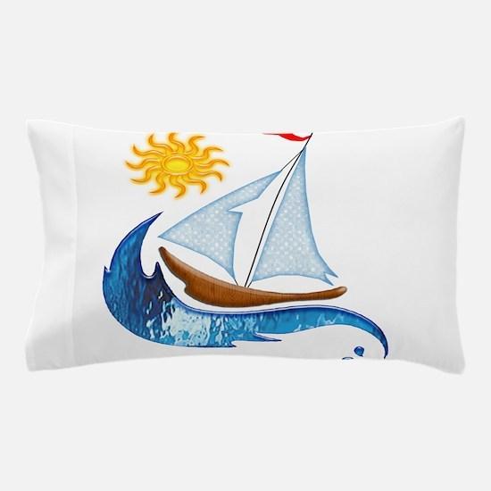 Cute Sailboats Pillow Case