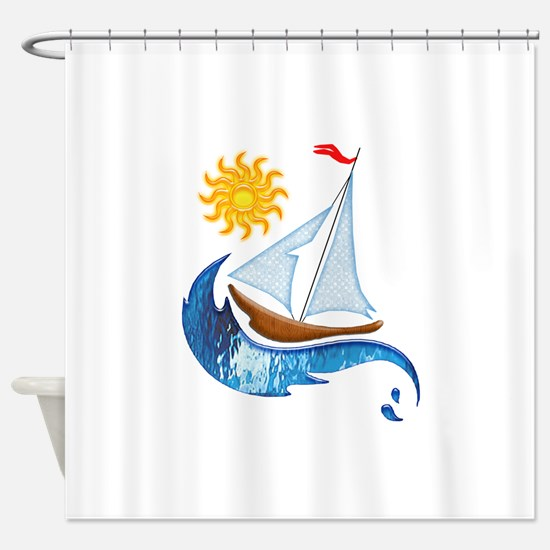 Funny Sailing Shower Curtain