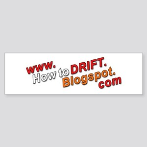 How To Drift Bumper Sticker