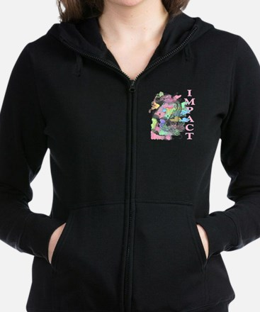 Cute Womens hawaiian Women's Zip Hoodie