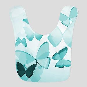 Turquoise Butterflies Bib