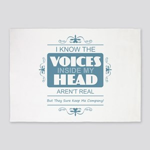 Voices in my Head 5'x7'Area Rug