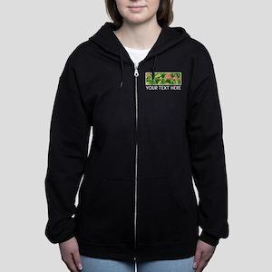 Alpha Epsilon Phi Banana Leaves Women's Zip Hoodie