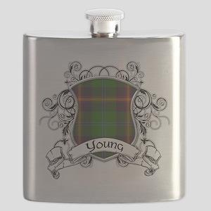 Young Tartan Shield Flask