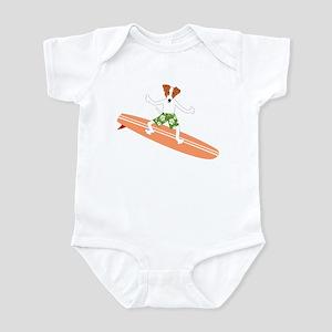 Jack Russell Terrier Surfer Infant Bodysuit