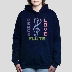 Peace Love Flute Music Sweatshirt