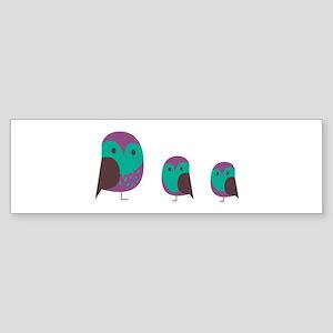 Three Owls Bumper Sticker