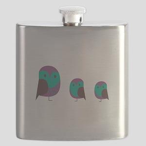 Three Owls Flask