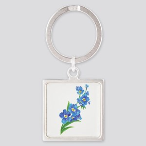 Forget Me Not Flower Watercolor Painting Keychains