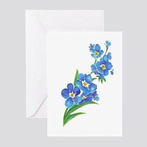 Watercolor painting greeting cards cafepress forget me not flower watercolor painting greeting m4hsunfo