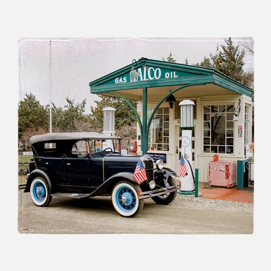 Funny Classic car Throw Blanket