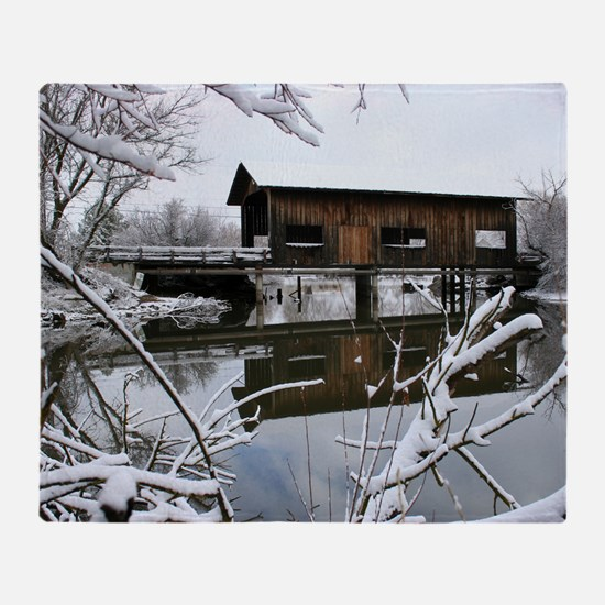 Cool Covered bridge Throw Blanket