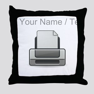 Custom Printer Throw Pillow