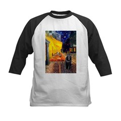 Cafe & Schipperke Kids Baseball Jersey