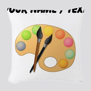 Custom Paint Easel Woven Throw Pillow