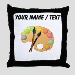 Custom Paint Easel Throw Pillow