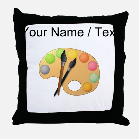 Custom Paint Easel Throw Pillow