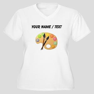 Custom Paint Easel Plus Size T-Shirt