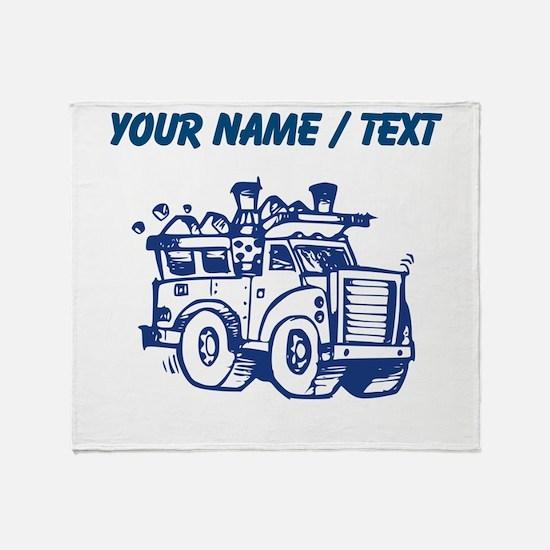 Custom Garbage Truck Throw Blanket