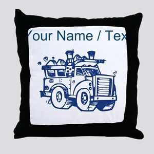 Custom Garbage Truck Throw Pillow