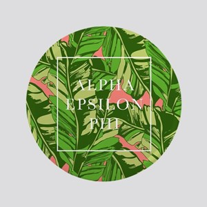"Alpha Epsilon Phi Banana Leaves 3.5"" Button"