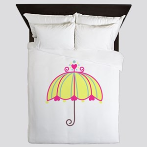 Fancy Umbrella Queen Duvet