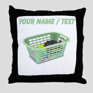 Custom Laundry Basket Throw Pillow