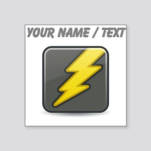 Custom Lightning Icon Sticker