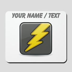 Custom Lightning Icon Mousepad