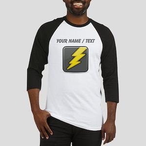 Custom Lightning Icon Baseball Jersey