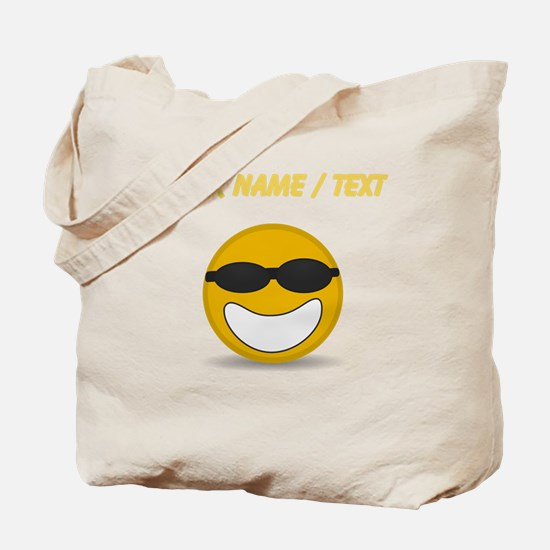 Custom Cool Smiley Face Tote Bag