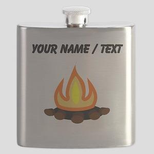 Custom Camp Fire Flask