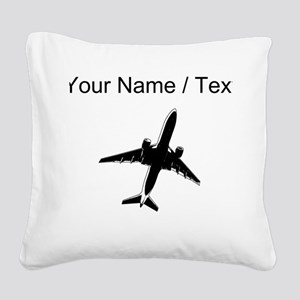 Custom Airplane Square Canvas Pillow