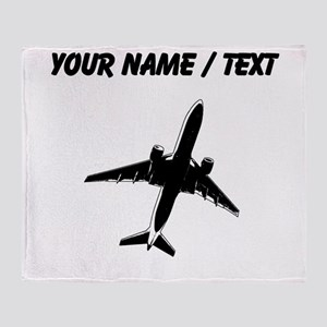 Custom Airplane Throw Blanket