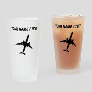 Custom Airplane Drinking Glass