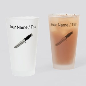 Custom Knife Drinking Glass