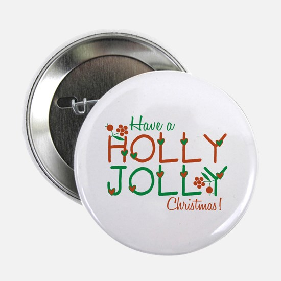 "Jolly Christmas 2.25"" Button"