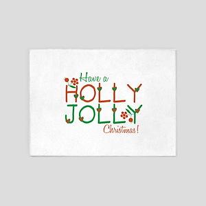 Jolly Christmas 5'x7'Area Rug