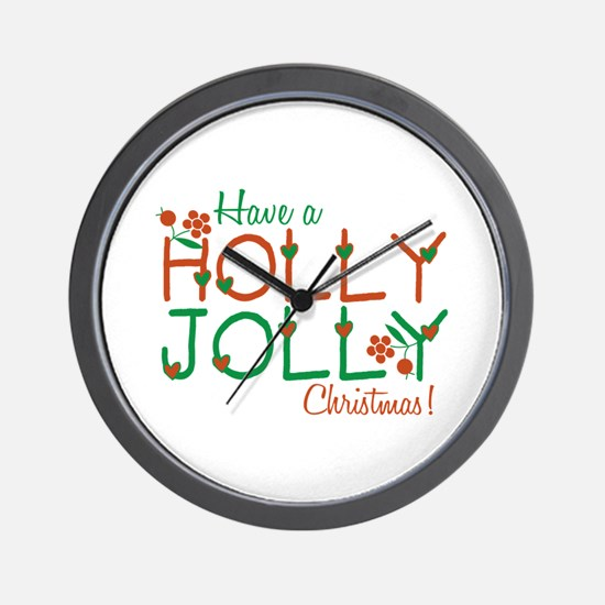 Jolly Christmas Wall Clock