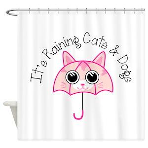 Cat Umbrella Shower Curtains