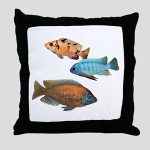 Cichlid Treo Throw Pillow