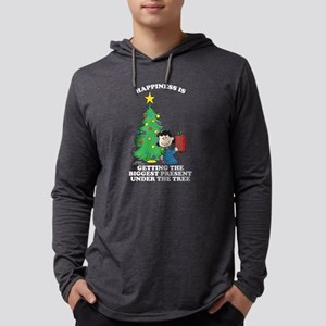Peanuts Biggest Present Under Th Mens Hooded Shirt