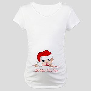 Santa Baby Maternity Zipper Maternity T-Shirt