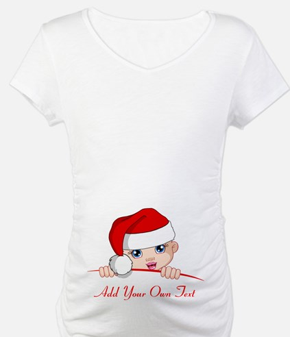 Santa Baby Maternity Zipper Shirt