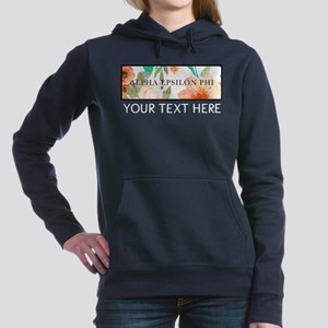 Alpha Epsilon Phi Floral Women's Hooded Sweatshirt