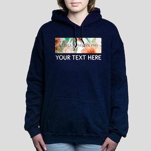 Alpha Epsilon Phi Floral Women's Hooded Sweatshirt