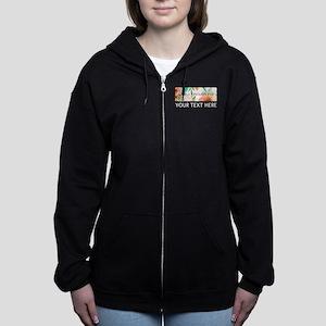 Alpha Epsilon Phi Floral Person Women's Zip Hoodie