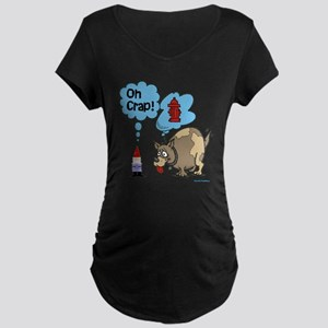 Visited by the Dog Maternity Dark T-Shirt